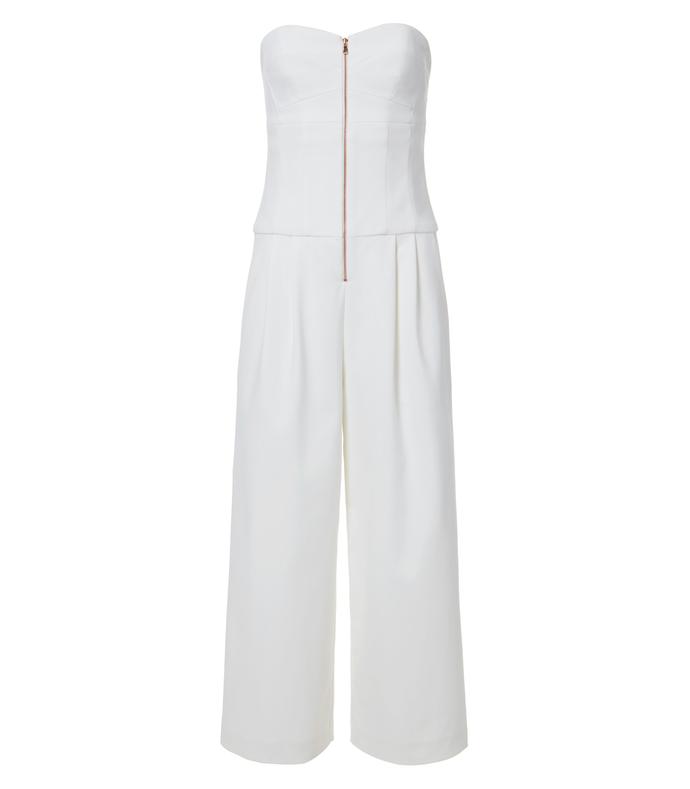 ivory agathe corset cropped jumpsuit