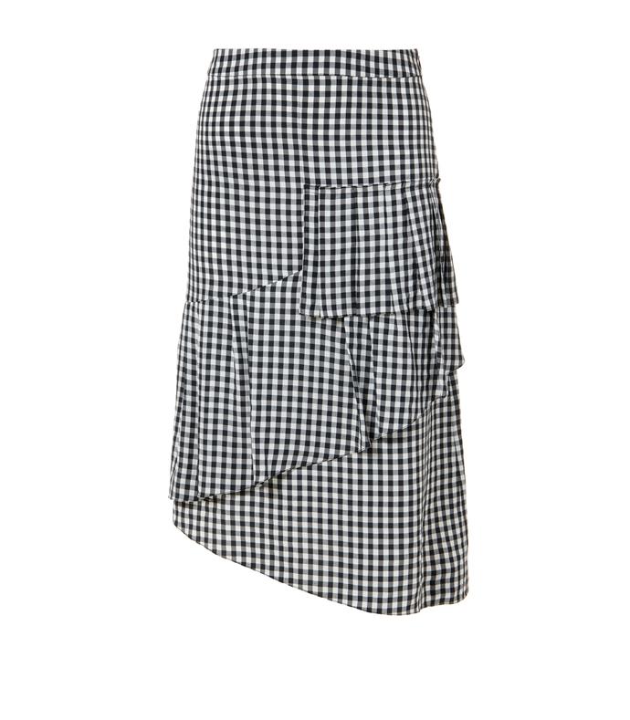 black & white gingham ruffle skirt