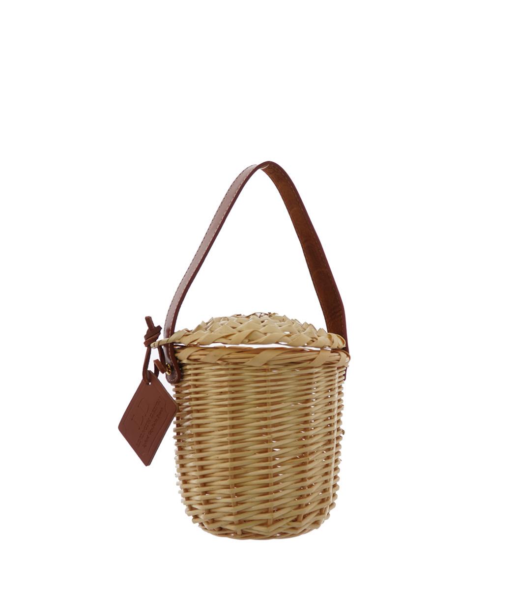 LINDROTH DESIGN Tan Mini Birkin Basket