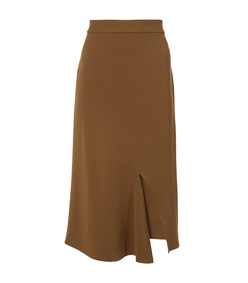 loden triacetate draped pencil skirt
