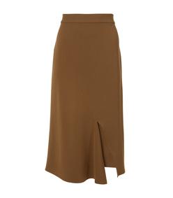 loden triacetate draped pencil skirt