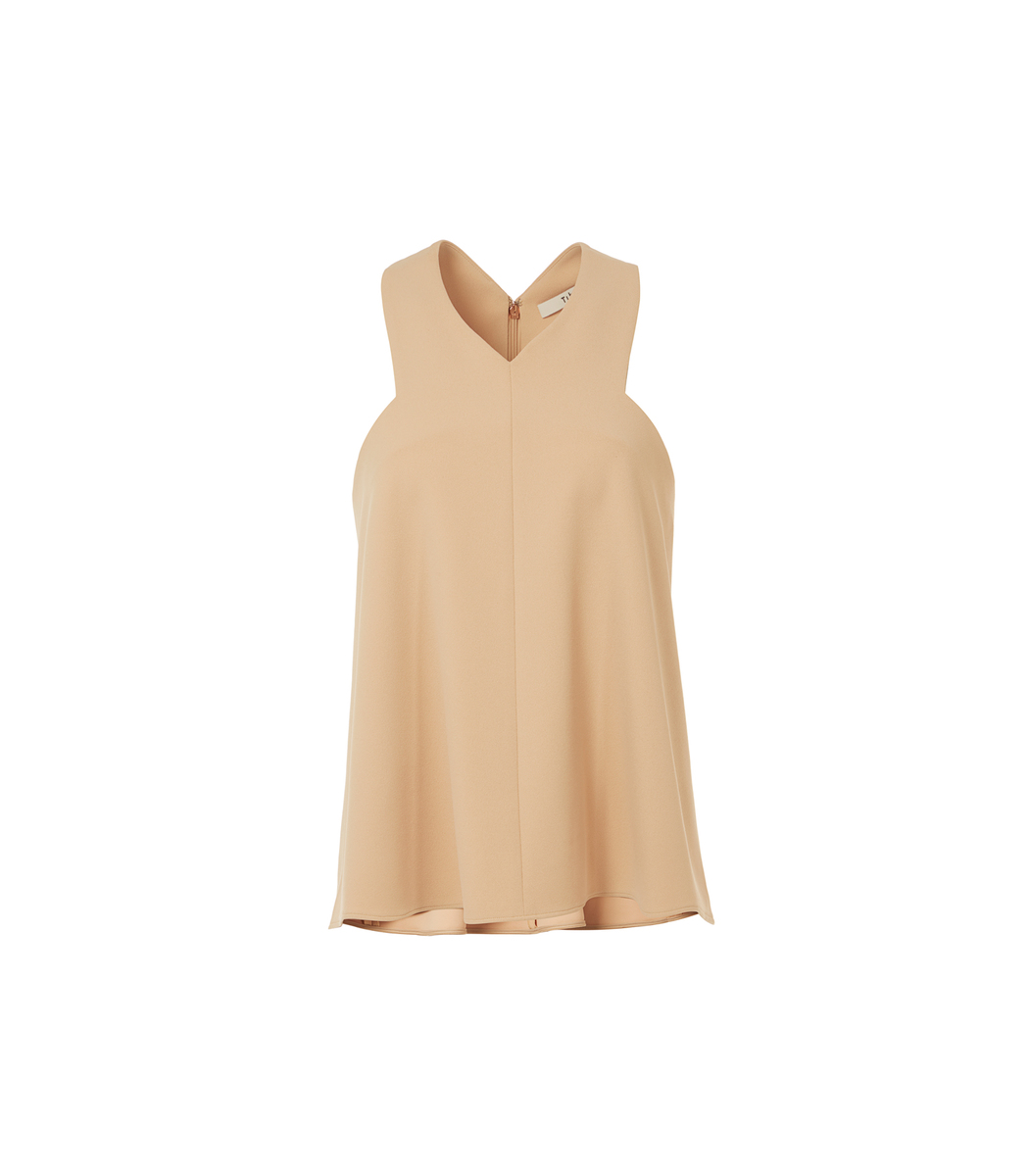 Find Great Cheap Price Low Price Cheap Price structured v-neck blouse - Nude & Neutrals Tibi Looking For Sale Online DDUuEiQ
