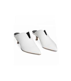 bright white dana mules
