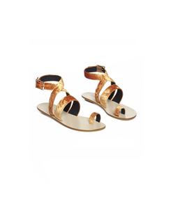tangerine hallie sandals