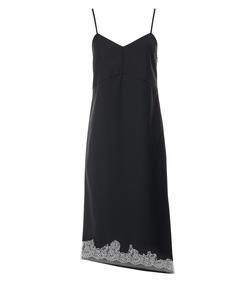 black multi lou lou appliqué bias dress