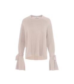 pale blush merino wool silk combo sweater