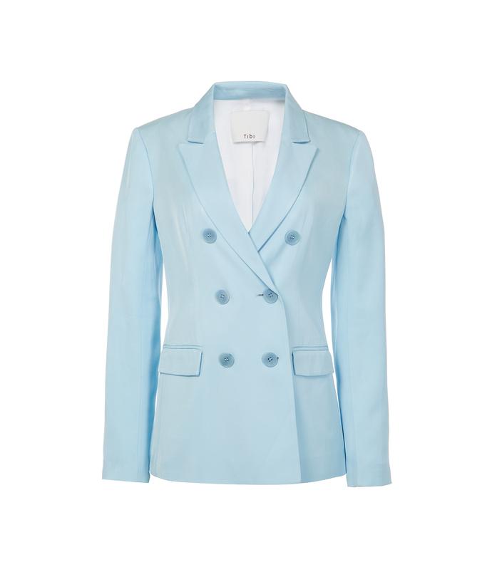 baby blue viscose suiting steward blazer
