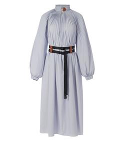 blue/white multi isabelle shirting edwardian dress