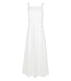 white crosby snap dress