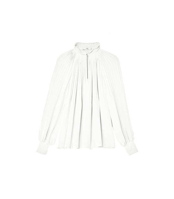 ivory 'edwardian' silk tunic top