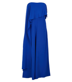 ShopBazaar Tibi Silk Draped Jumpsuit MAIN