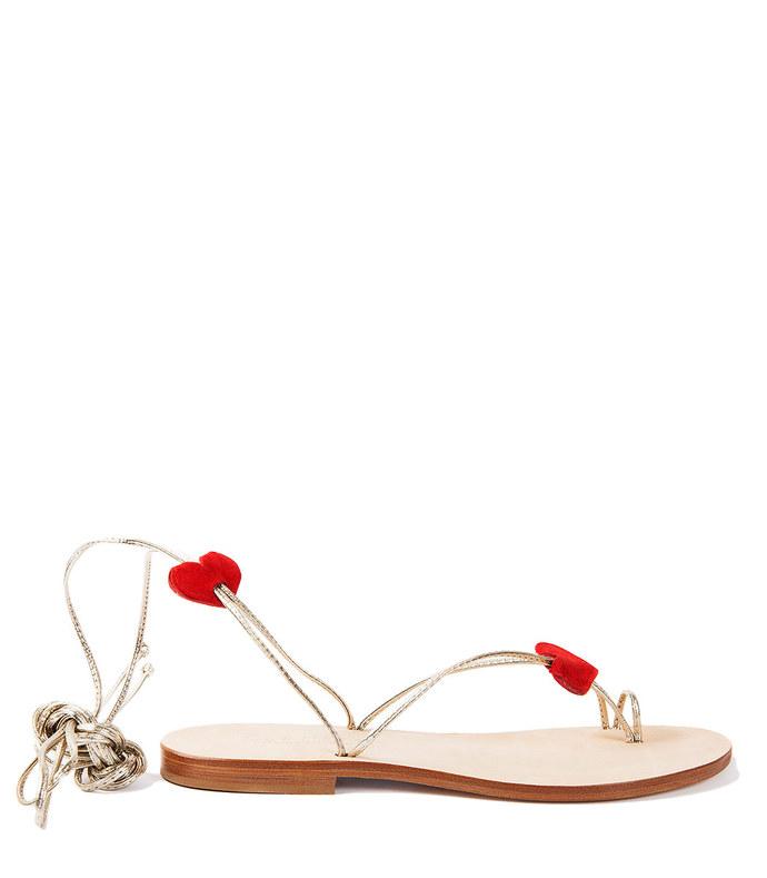 gold 'ventroso' sandal
