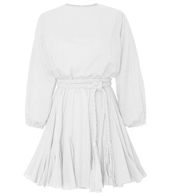 white 'ella' belt dress