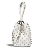 white 'roxy' mini bucket bag