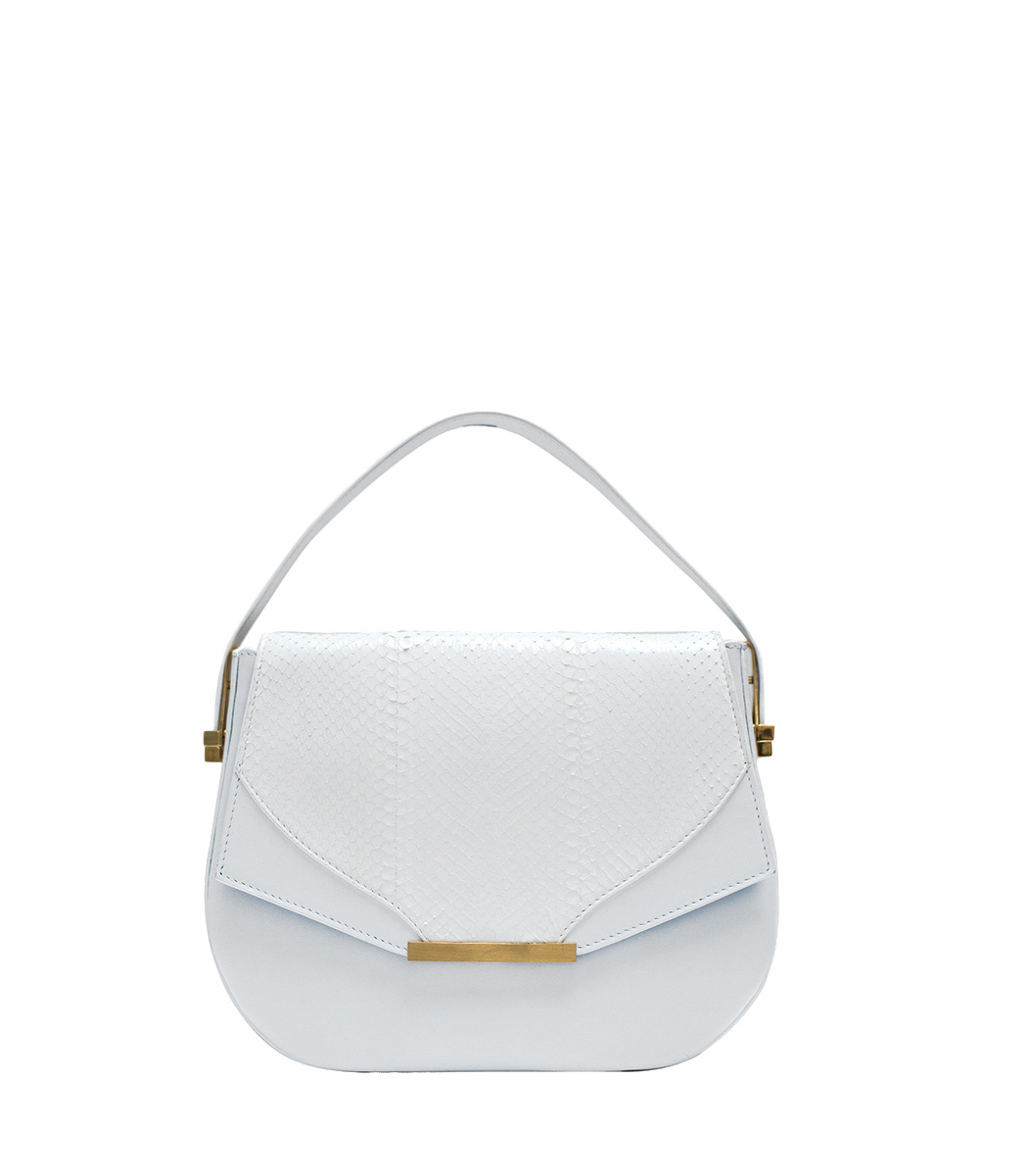 KHIRMA White Deedee Saddle Bag