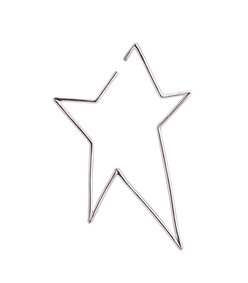 silver left single star earring