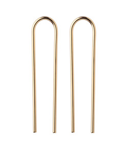 yellow-gold 'smooth bend' earrings