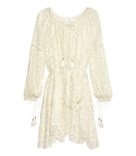 ivory 'gossamer' scallop dress