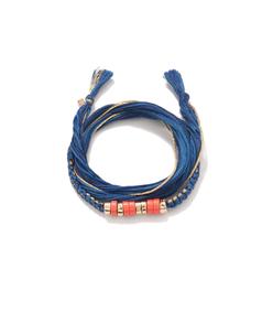 blue 'takayamas' wrap bracelet
