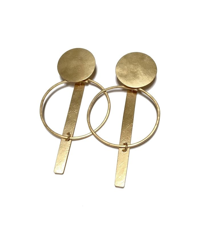 gold 'krikoi' hoop earrings