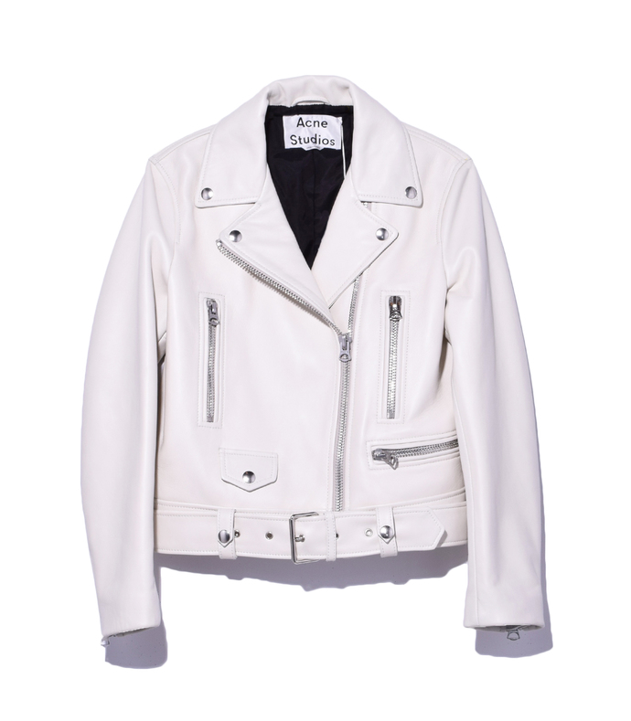 silver birch mock leather jacket