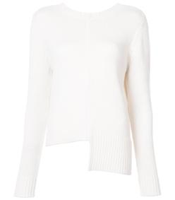 ivory paneled sweater