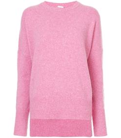pink round neck sweater