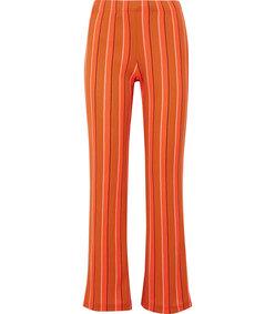 cyrene striped cotton-blend flared pants