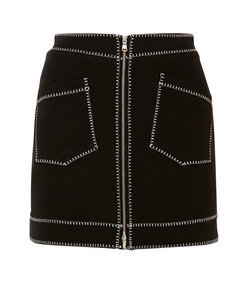 embroidered stretch-jersey mini skirt