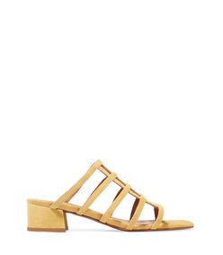 gris suede sandals