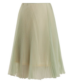 high-rise pleated skirt