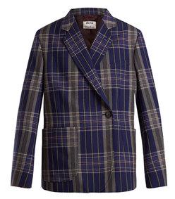 kheira oversized checked blazer