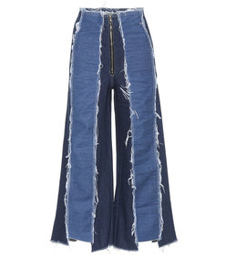 bella frayed cropped jeans
