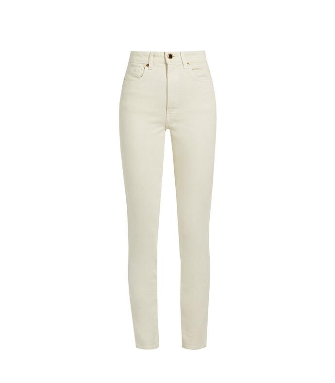 Vanessa High Rise Straight Jean - Ivory aff-1488334041