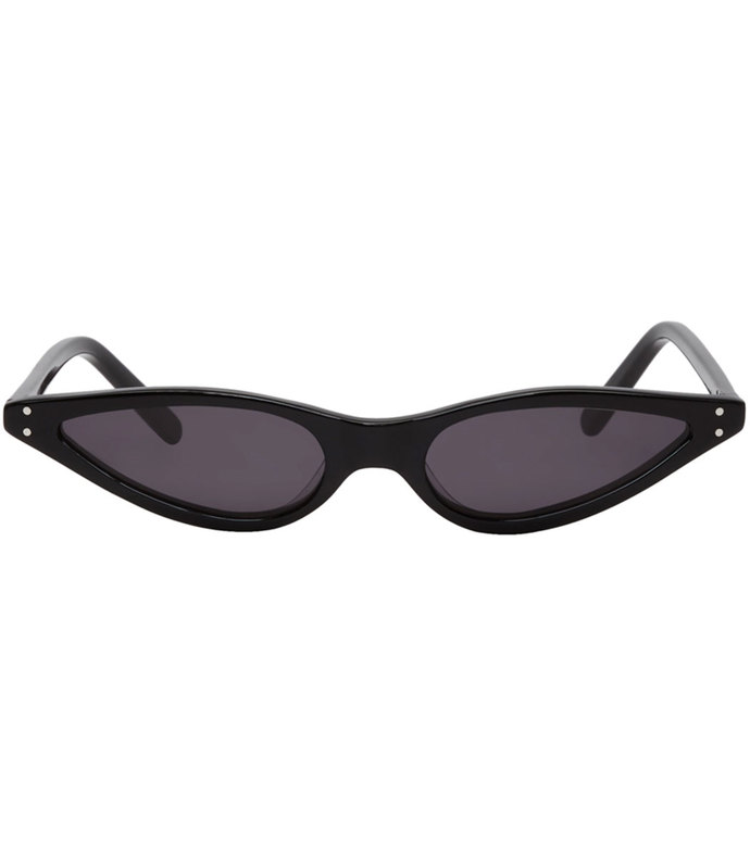 black micro cat-eye sunglasses