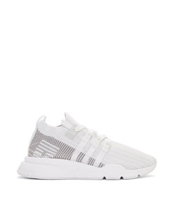 white eqt support mid adv sneakers