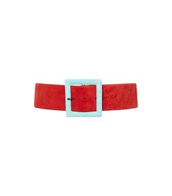 suede buckle belt