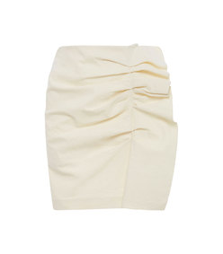 lefly ruffled cotton-blend mini skirt