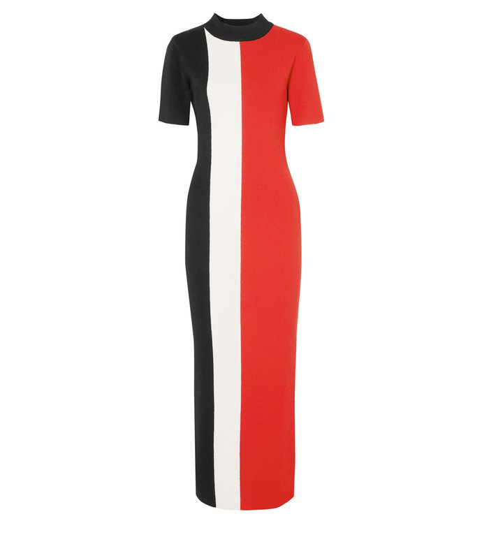 Clemence Color-Blocked Stretch Knit Dress aff-995726