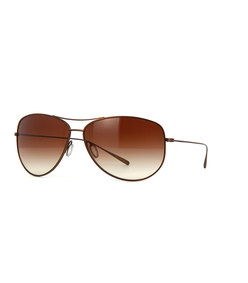 kempner - gold with brown gradient polarized lens