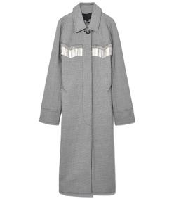 black/white raglan sleeve car coat