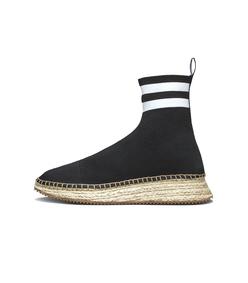 black/white dylan espadrille bootie