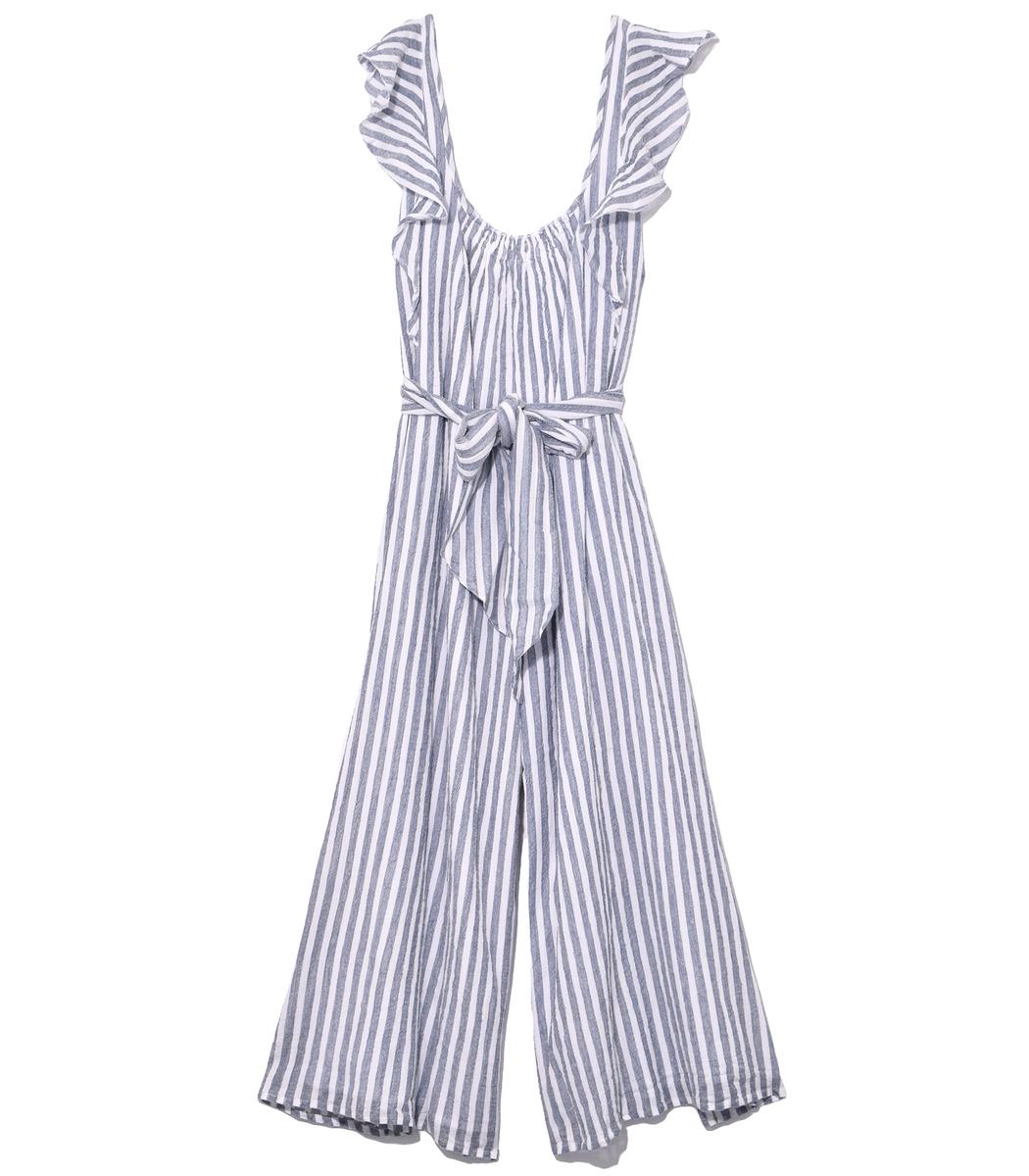 Highland Striped Wide-Leg Jumpsuit, Multi