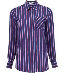 navy & red 'chika' striped shirt
