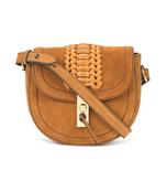 light brown mini 'ghianda' saddle bag