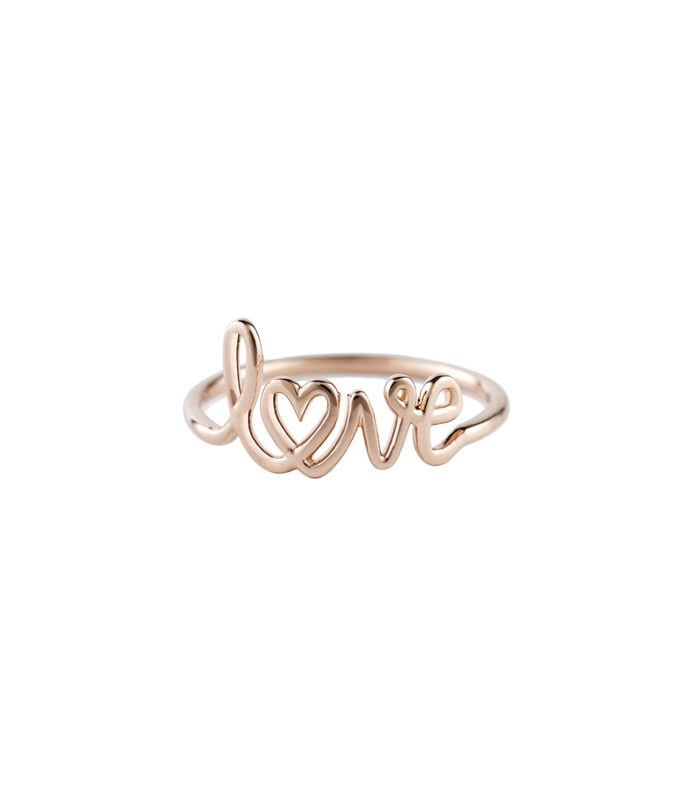 Gold 'Love' Ring