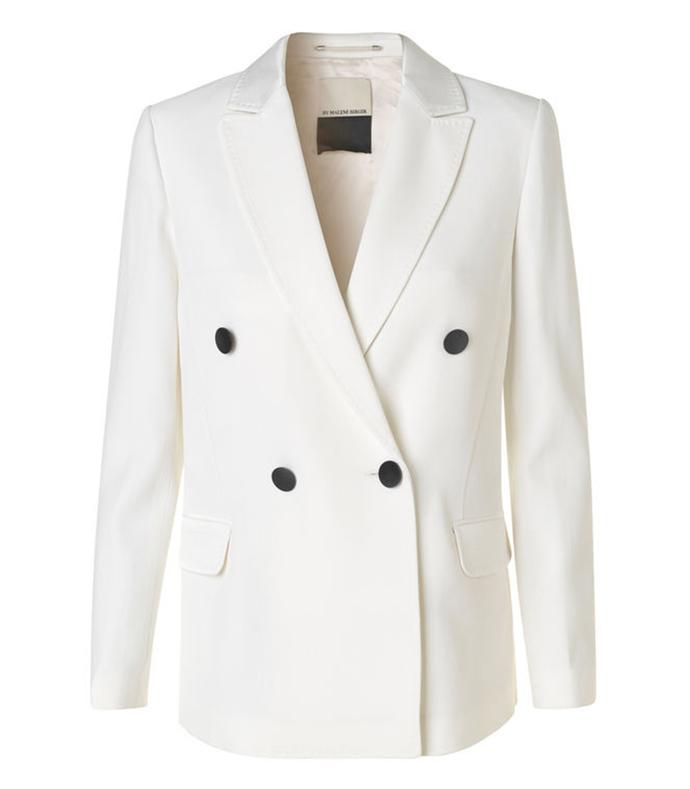 soft white 'caro' jacket