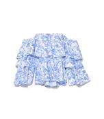 blue multicolor carmen top