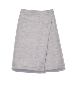 mottled grey asymmetric skirt