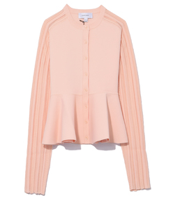 nude orange milano mesh cardigan